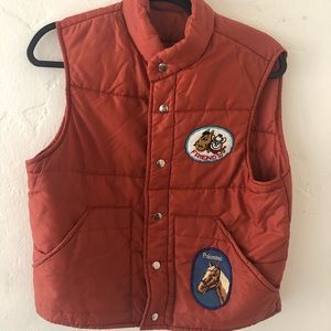 Vintage equestrian puffy vest